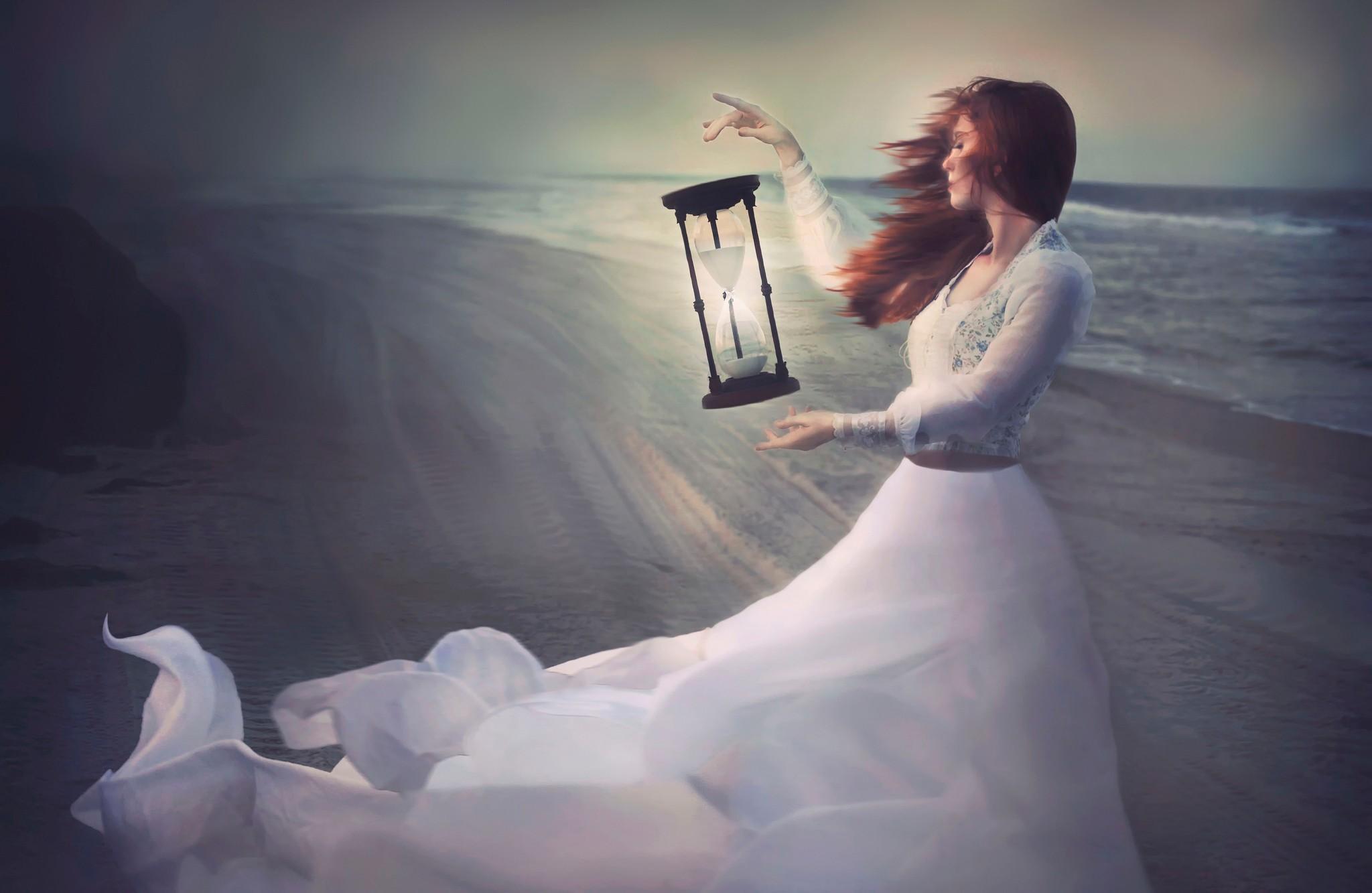 ветер девушка время песок
